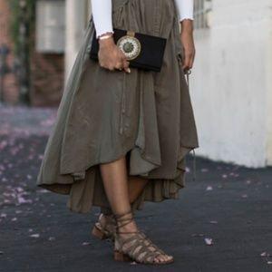 Sam Edelman Ardella Green Suede Gladiator Sandals